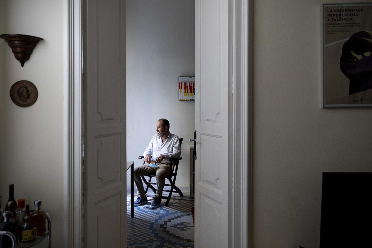 Gustavo Gardey, en su domicilio.