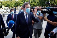 El ex presidente del Gobierno y del PP, Mariano Rajoy, en un acto celebrado recientemente en A Coruña.