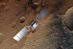 Recreación de la sonda 'Mars Express' en Marte