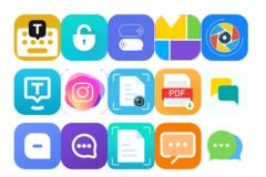 Iconos de algunas Apps infectadas por el Joker.