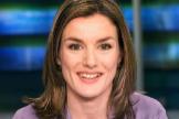 Letizia Ortiz, en su etapa de presentadora de informativos de TVE, en 2003.