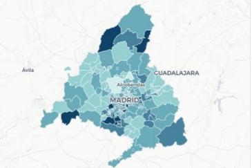 Así está la pandemia en Madrid: 13 zonas sin restricciones tienen una incidencia superior a 1.000