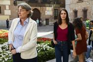 La portavoz de Más Madrid, Rita Maestre, junto a la concejal Marta Higueras