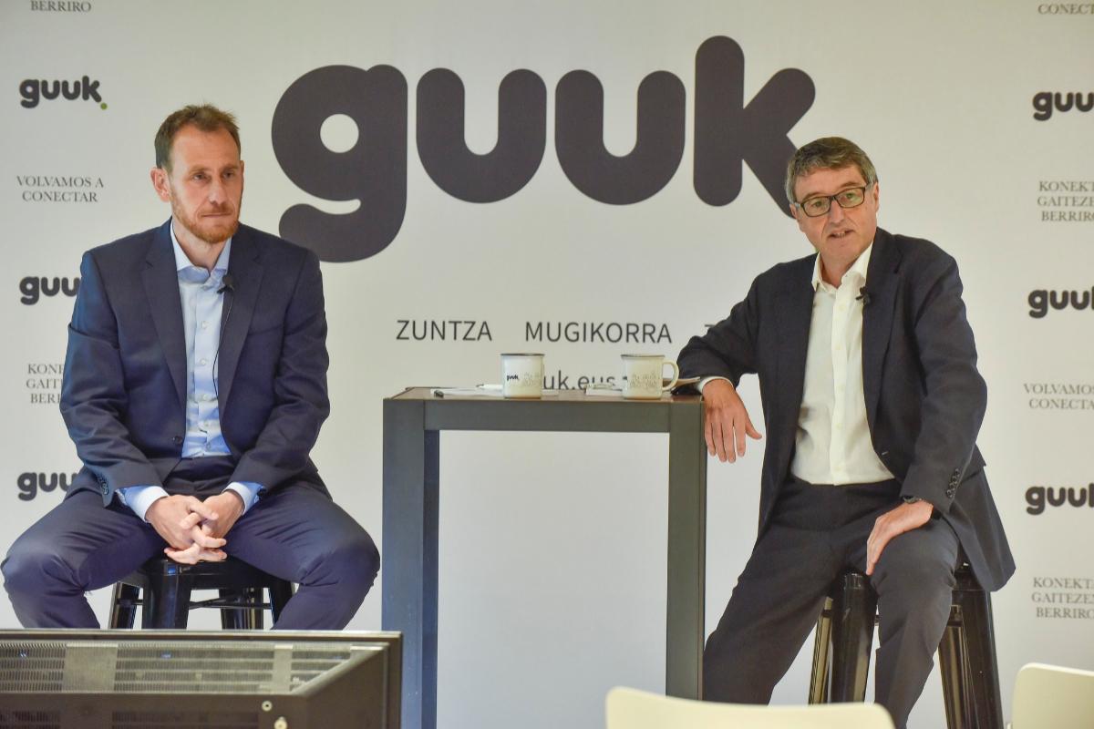 Juanan Goñi, consejero delegado de Guuk y Jon Ander de las Fuentes, presidente.
