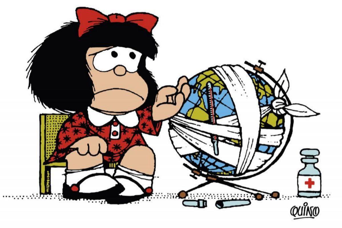 Mafalda está de luto por la muerte de Quino 1