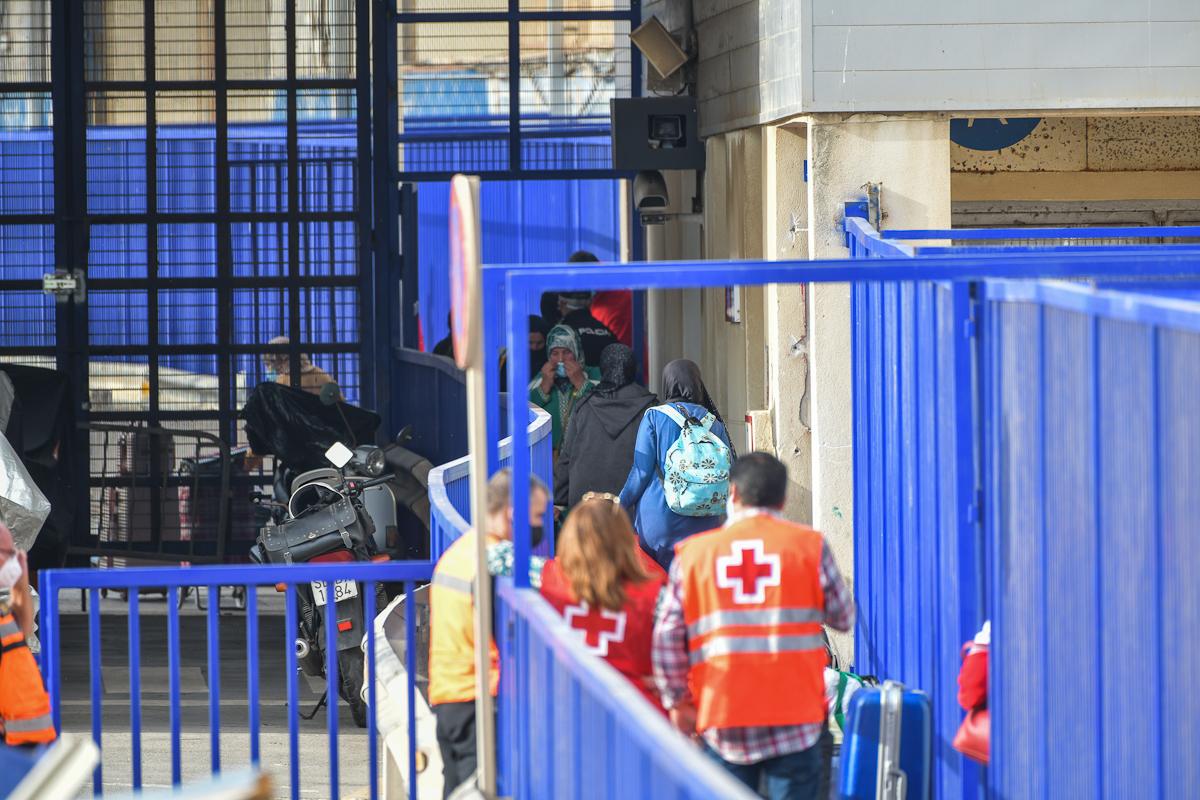 Detalle de la frontera entre Marruecos y España, este miércoles, en Ceuta.
