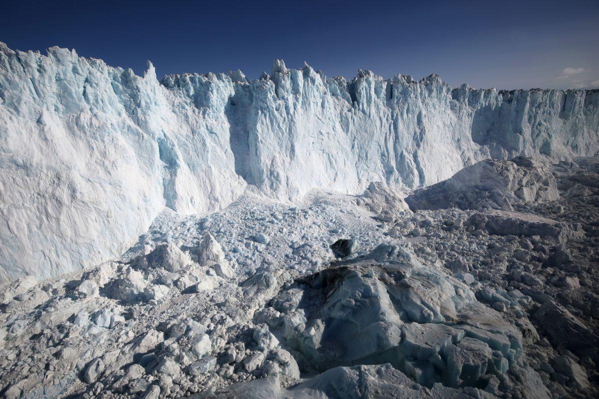 Imagen de un glaciar en Groenlandia.