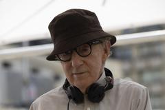 Woody Allen en el rodaje de 'Rifkin's festival'.