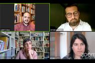 Los ponentes Alberto Sicilia, Antonio Villarreal, Pampa G. Molina y Esther Samper, durante el encuentro.