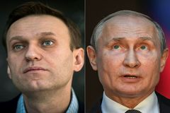 Alexei Navalny y Vladimir Putin.