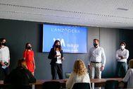 Acto de la presentación del programa de colaboración Wayra-Lanzadera.