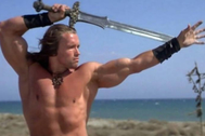 Arnold Schwarzenegger, como 'Conan el bárbaro'.