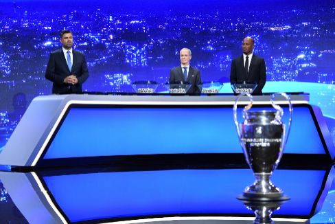 Imagen del sorteo de la fase de grupos de la Champions 2020/21.
