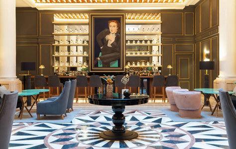 Salón del hotel Eugenia de Montijo de Toledo.
