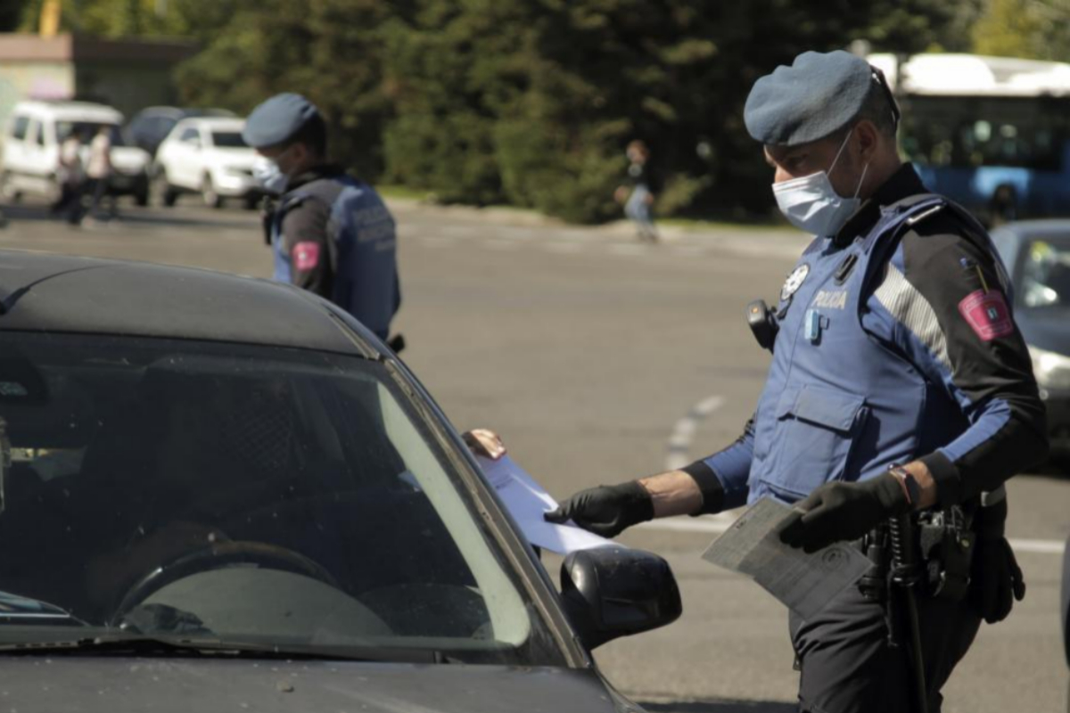 Control policial en Usera, esta semana.