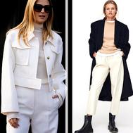 Los pantalones blancos (anchos) son para el invierno