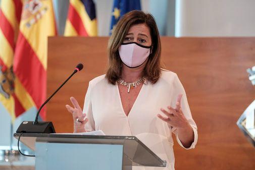 La presidenta balear, Francina Armengol, esta mañana, en Ibiza.