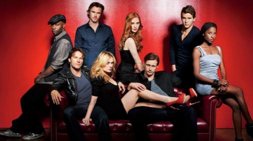 Los protagonistas de 'True Blood', una fantasía vampírica contemporánea.