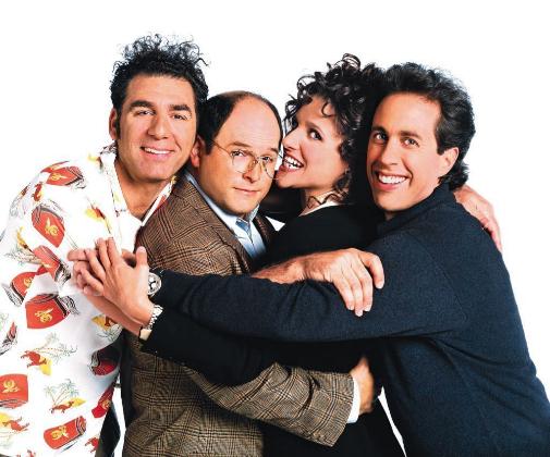 Los protagonistas de la enloquecida Seinfeld, un hito en la historia de las series.