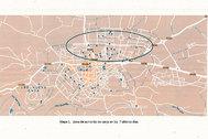 La zona del círculo es la marcada de la incidencia en avenida Cataluña.
