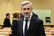 El ex ministro Ángel Acebes en el Congreso.