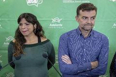 Teresa Rodríguez y Antonio Maíllo, en una imagen de diciembre de 2018.