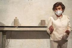 Laffón, en la exposición abierta en el museo de Bellas Artes esta semana.