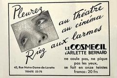 Anuncio del cosmético Cosmecil publicado en un periódico.