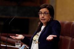La diputada del PP Ana Vázquez durante su intervención 'viral'