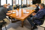 Responsables de la Fundación del Provincial y la UJI, ayer durante la reunión.