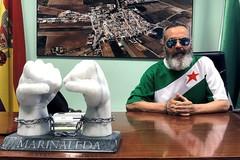 El alcalde Sánchez Gordillo en su despacho.