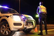 Un control de la Policía Local de Alicante, este mes.