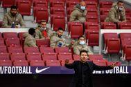 Simeone, durante el partido contra el Villarreal.