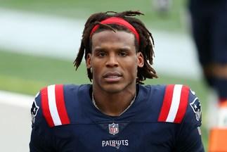Cam Newton, durante un partido de los Patriots.