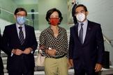 De izquierda a derecha, los presidentes de Bankia, Santander y BBVA.