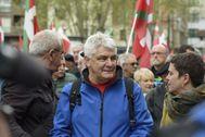 Antonio López Ruiz 'Kubati' durante una movilización para reclamar el acercamiento a Euskadi de los presos de ETA.