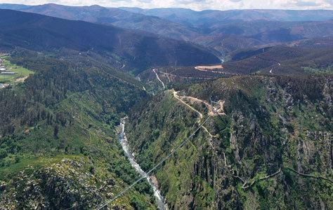 Vistas de la zona, a 60 kilómetros de Oporto.