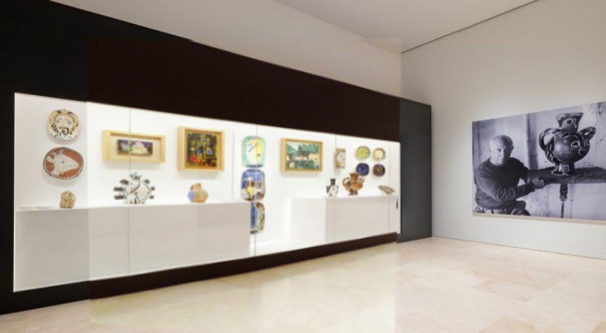 Sala del Museo Picasso Málaga donde se expone 'Diálogos con Picasso. Colección 2020-2023'.