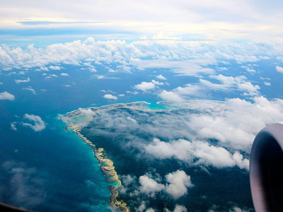 Vista de Sentinel del Norte desde un avión.