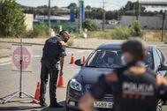 Un control de Mossos en Lleida