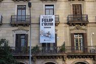 Pancarta contra el Rey.