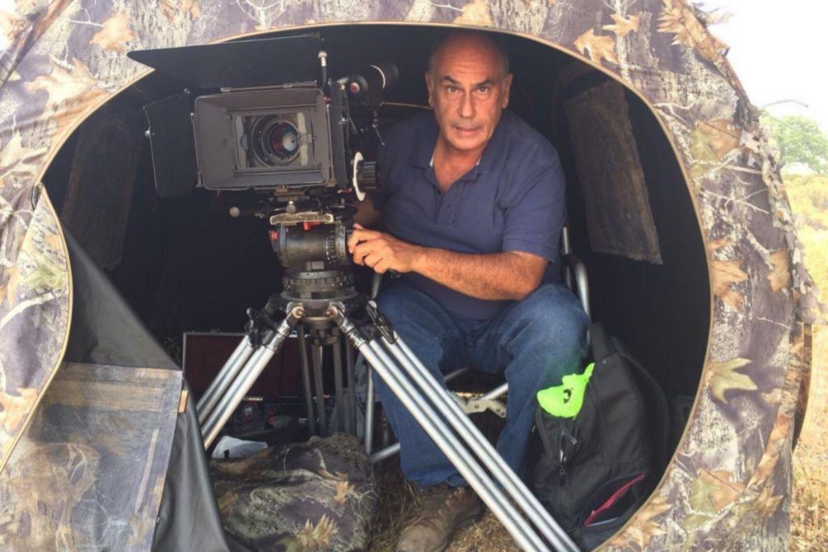 Joaquín Gutiérrez Acha en un momento del rodaje.