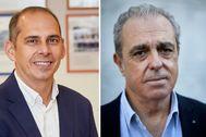 De izquierda a derecha, Eugenio Gallego, nuevo director de la Escuela de Periodismo y Rafael Moyano, director académico.