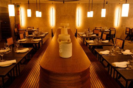 El restaurante Fayer combina platos de cocina israelí y argentina.