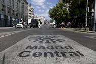 Una de las entradas de Madrid Central, en la Carrera de San Jerónimo