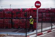 Vista parcial de la planta de Coca-Cola European Partners (CCEP) en Málaga, perteneciente a la sociedad Rendelsur.