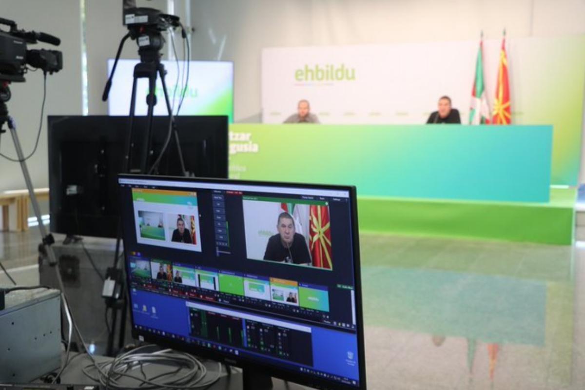 El coordinador general de EH Bildu, Arnaldo Otegi durante la asamblea general de la formación.