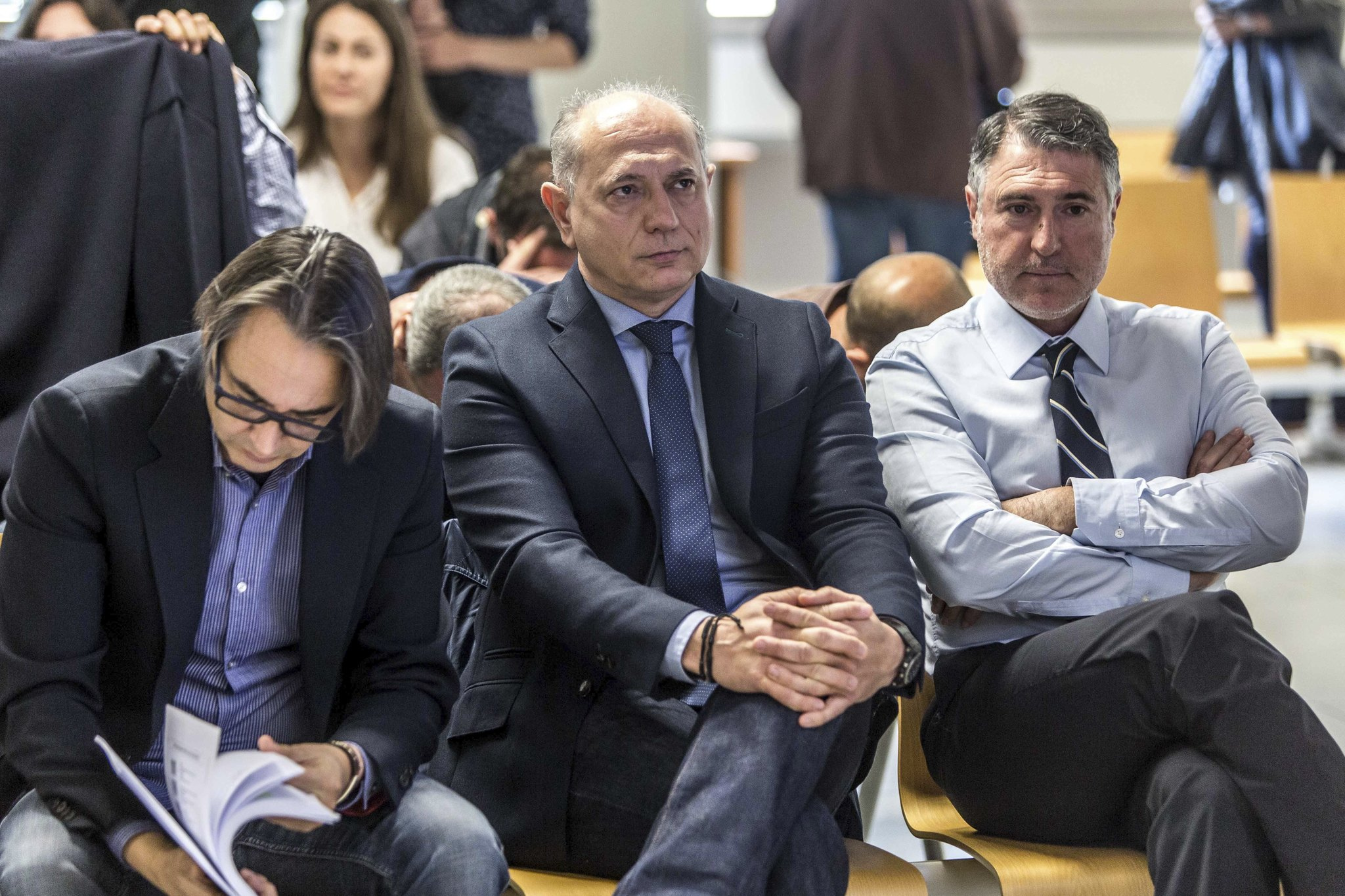 El ex presidente de Emarsa y ex vicepresidente de la Diputación de Valencia, Enrique Crespo, en el banquillo.
