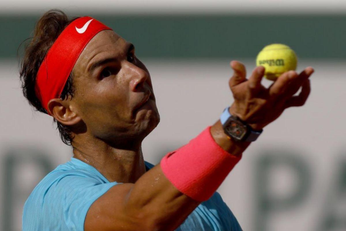 Rafa Nadal, en un momento de la semifinal ante Schwartzmann.