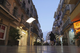 Imagen del centro de Linares, esta semana.
